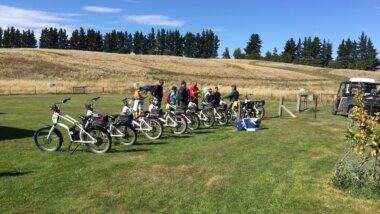 E-Bike orientation at LandEscape farm. Credit: LandEscape
