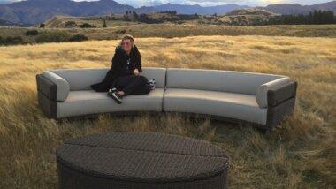 A guest enjoys the view. Credit: LandEscape