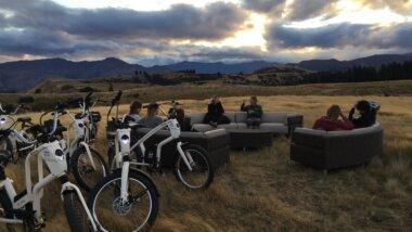 E-Bike arrival at the headland. Credit: LandEscape